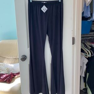 Brand new with tags navy suede flare pants